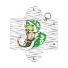 檸檬飴の雨の日のアカメアマガエルとクレステッドゲッコー(ホワイト) Mini Clear Multipurpose Case
