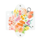 n_makiのflower Mini Clear Multipurpose Case
