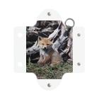 彩り豊かサロベツ原野の生き物◆にこらびの【にこらび】子キツネ0121 Mini Clear Multipurpose Case