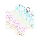 つきしょっぷの虹色のグラデーションの星 Mini Clear Multipurpose Case