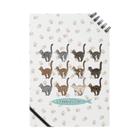 豆つぶのTabbies Cat(集合/肉球ver) Notebook