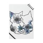 CLOVER-SHOKOのネコ*なかよし♪ 花モノクロ Notes