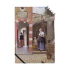 世界の絵画アートグッズのピーテル・デ・ホーホ 《デルフトの中庭》 Notebook