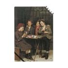 世界の絵画アートグッズのジョン・ジョージ・ブラウン《タフな顧客》 Notebook