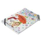 ボールペン画と可愛い動物の雨紫陽花 Notesの平置き