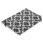 Ribbon-corsage*のダマスク柄ホワイト Notesの平置き