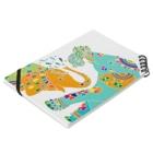 YASUHのゾウと4つ葉のクローバー Notebookの平置き