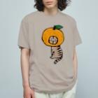 ほっかむねこ屋(アトリエほっかむ)のみかんかぶりねこ Organic Cotton T-shirts