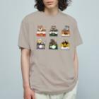 ちなきのこの野生動物缶 6点セット Organic Cotton T-shirts