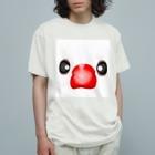 Lily bird(リリーバード)のいちご大福?!白文鳥さん Organic Cotton T-Shirt