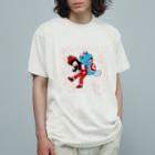 有明ガタァ商会のトマトのねえとガタちゃん Organic Cotton T-shirts