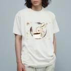 さくらいろのうさぎのかふぇらていろのうさぎ Organic Cotton T-shirts