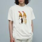 mofusandのダブルえび天にゃん Organic Cotton T-shirts