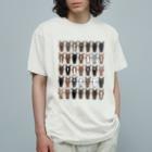 マツザキユキのおかおびっしり Organic Cotton T-shirts