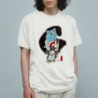有明ガタァ商会の御あつらへガタゴロウG〜黒〜 Organic Cotton T-shirts