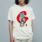 有明ガタァ商会の御あつらへガタゴロウG〜紅〜 Organic Cotton T-shirts