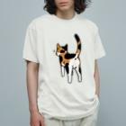 Riotoのねこけつ(三毛猫) Organic Cotton T-shirts