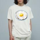 古屋智子(TomokoFuruya)の目玉焼きごはん2 Organic Cotton T-shirts