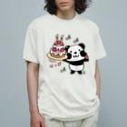 *suzuriDeMonyaa.tag*のkyu13ズレぱんだちゃんのはっぴー Organic Cotton T-shirts