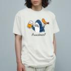 サメ ! さめ ! 鮫 ! (わりとおもい)のビールとエビフライとサメ 色付きVer. Organic Cotton T-Shirt