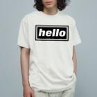 DRIPPEDのhello-ハロー- BOXロゴ Organic Cotton T-shirts