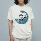 ほっかむねこ屋(アトリエほっかむ)のなみのりねこ Organic Cotton T-shirts