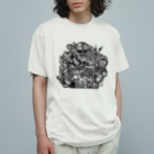 UFOchanのモノクロ猫 Organic Cotton T-Shirt