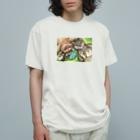 ハミングピッピのみんなでごろん。 Organic Cotton T-shirts
