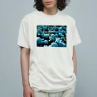 アオフジマキのアジサイ Organic Cotton T-shirts