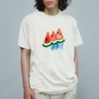 無果汁屋の無果汁スイカ Organic Cotton T-Shirt