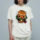 *suzuriDeMONYAAT*のバーガー Organic Cotton T-Shirt
