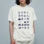 オガサワラミチの様々なきのこ Organic Cotton T-shirts