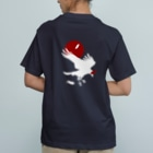 ESCHATOLOGYのレイヴン・ホワイト/赤月 Organic Cotton T-shirts