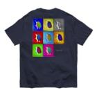 Chien de cirque サーカスの犬の ハリー君 in pop art  Organic Cotton T-shirts