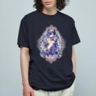 月蝕ざっか店@SUZURIのDistress Rose C(シャツ・グラスなど用) Organic Cotton T-shirts