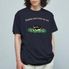 ぎんぺーのしっぽの果報を寝て待っているリカオン Organic Cotton T-shirts