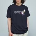 amaのEveryday Fighting_ロゴ_白 Organic Cotton T-shirts