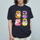 Lily bird(リリーバード)のぎゅっ♪マカロン文鳥ず Organic Cotton T-Shirt