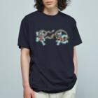 有明ガタァ商会の風魚雷魚図 Organic Cotton T-shirts