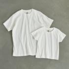 HIGEQLOの自転車に乗って旅に出る Organic Cotton T-shirtsはナチュラルのみ、キッズサイズからXXLまで対応