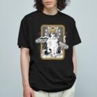 OJIKの養蚕守護猫 Organic Cotton T-shirts