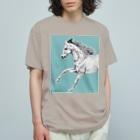 馬の絵の画家 斉藤いつみの馬の素描Tシャツ9 Organic Cotton T-shirts