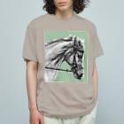 馬の絵の画家 斉藤いつみの馬の素描Tシャツ11 Organic Cotton T-shirts