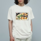 HENMO DESIGN TSHIRTSのWE LOVE SANUKI UDON&うどん早見表 Organic Cotton T-Shirt