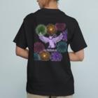 Màau Music.貓音樂 マウミュージックネコショップの貓羽ちゃん花火T ブラック Organic Cotton T-Shirt