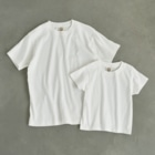 BLACKINKのNest Organic Cotton T-shirtsはナチュラルのみ、キッズサイズからXXLまで対応