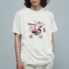 Akane Yabushita SUZURI Shopの【日本レトロ#25】ラーメン Organic Cotton T-shirts