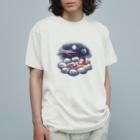 Akane Yabushita SUZURI Shopの【日本レトロ#29】猿と温泉 Organic Cotton T-shirts