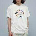 エダマメトイチ雑貨店のI love birds A 大 Organic Cotton T-Shirt