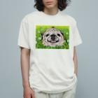 ハミングピッピのぼく、パグ! Organic Cotton T-shirts